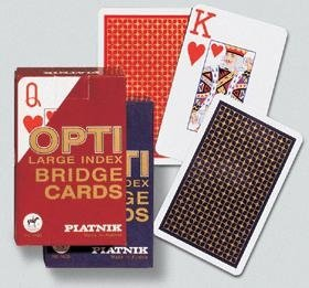 Spielkarten Opti Bridge, 2 Index