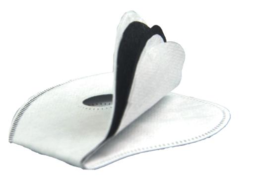 Maska przeciw smogowi PM 2.5 PM 10 - czarna