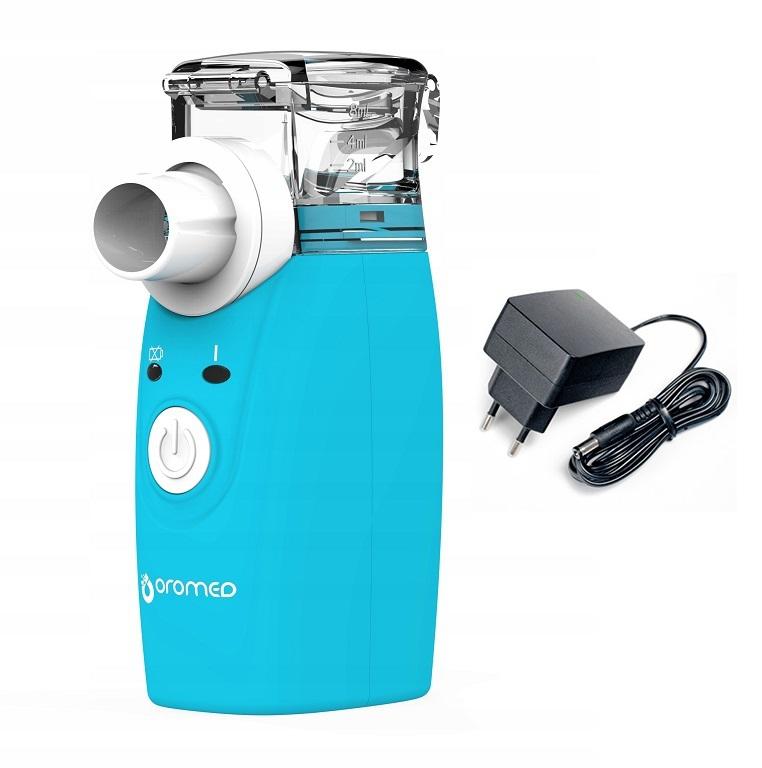 Mini inhalator - przenośny na baterie (ORO-Mesh) z zasilaczem