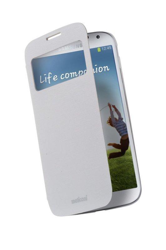 Etui na telefon Meliconi Samsung Galaxy S4 Flap View - białe