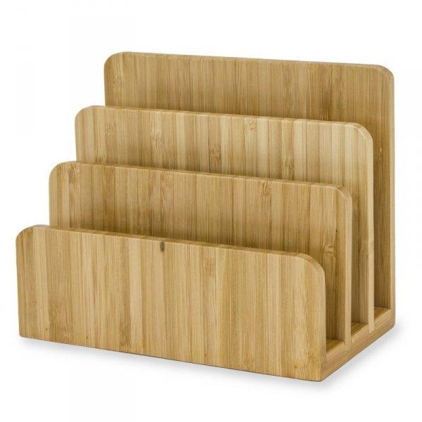 Stojak Na Listy dokumenty organizer na biurko  108470 drewniany bambusowy