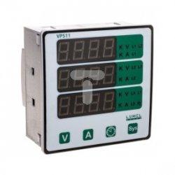 Miernik parametrów sieci typ wyświetlacza 3 linie napięcie wejściowe 57,7-290V L-N / 100-500V L-L zasilanie zewnętrzne 40V-300V