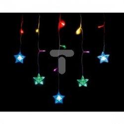 Komplet choinkowy kurtynka 14l LED z dekoracją 1m dekoracji kolor multikolor 1m /7cm 3 x bateria AAA 1,5 V wewnętrzne 10-601