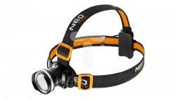 Latarka czołowa LED 5W 400lm, zoom, CREE R5, 3xAAA 99-200