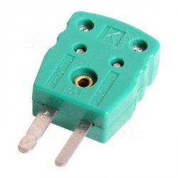Wtyk A4 męski MINI na kabel do sond K zielony