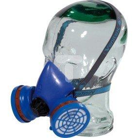 Półmaska z kauczuku + 2 pochłaniacze A2 z 2 wymiennymi filtrami P2 niebieska M3200A2P2R
