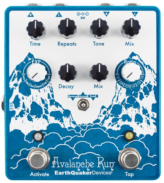 EarthQuaker Devices Avalanche Run V2 - Stereo Delay & Reverb