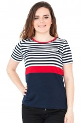 Bluzka w marynarskie paski, t-shirt rozmiar 48