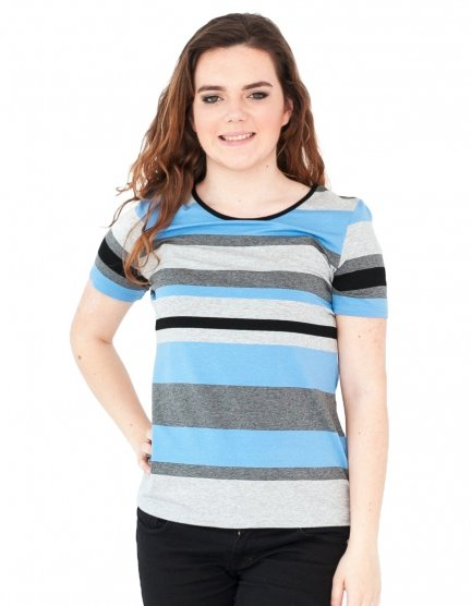 Bluzka w paski, t-shirt, Kreator Studio Mody, r.48
