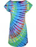 Rainbow Blue Streak - Šaty  Liquid Blue