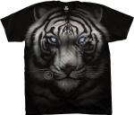 Majestic White Tiger - Liquid Blue