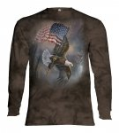Flag Bearing Eagle - Long Sleeve The Mountain