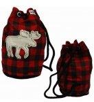 Moose Plaid Tote Bag - worek - LazyOne