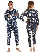 Classic Moose Blue Flapjack - Pyžamo Šašek - LazyOne