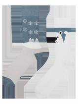 Miś Polarny - Zimowe Skarpety - Good Mood
