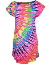 Rainbow Pink Streak - Šaty Liquid Blue