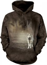 Grey Wolf Portrait - Mikina The Mountain