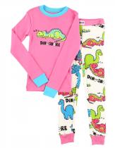 Girls Dino-Snore - Pyžamo dětské dlouhý rukáv – LazyOne