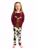 Girls Moose Hug - Pyžamo dětské dlouhý rukáv – LazyOne