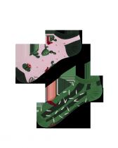 Summer Cactus - Krátké Ponožky - Many Mornings
