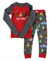Happy Camper - Pyžamo dětské dlouhý rukáv – LazyOne