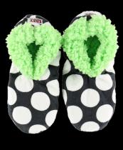 Polka Dots Fuzzy Feet - Papučky - LazyOne