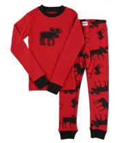 Moose Red - Piżama Dziecięca Długi rękaw - LazyOne