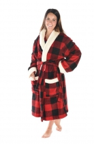 Moose Plaid Bathrobe - Szlafrok LazyOne