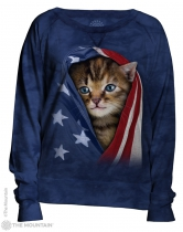 Patriotic Kitten - Bluza Damska - The Mountain