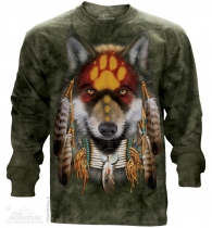 Native Wolf Spirit - Long Sleeve The Mountain