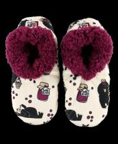 Huckle - Berry Bear Fuzzy Feet - Papcie - LazyOne