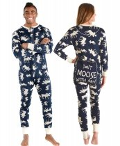 Classic Moose Blue Flapjack - Piżama Pajac - LazyOne