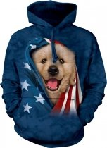 Patriotic Golden Pup - Bluza The Mountain