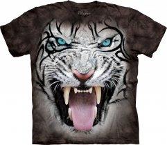 Big Face Tribal White Tiger Black
