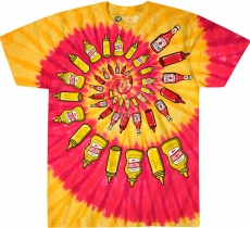 Mustard & Ketchup Spiral - Liquid Blue