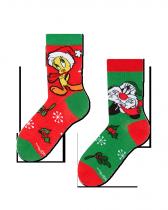Looney Tunes Sylvester i Tweety Święta - Skarpety Dziecięce Good Mood