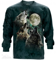 Three Wolf Moon - Long Sleeve The Mountain