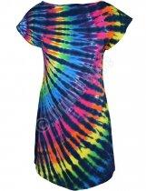 Rainbow Black Streak - Sukienka Liquid Blue