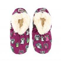 Night Owl Fuzzy Feet - Papcie Dziecięce LazyOne