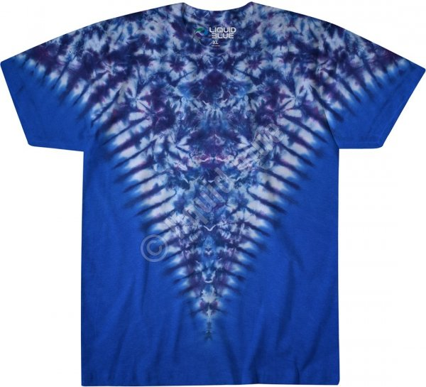 Blue Krinkle V - Liquid Blue
