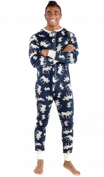 Classic Moose Blue - Flapjack - Pyžamo Šašek - LazyOne