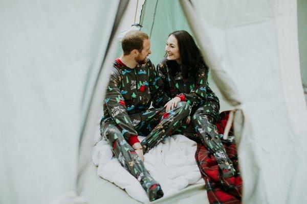 Happy Camper Footie - Spací kalhoty LazyOne