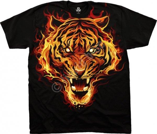 Fire Tiger - Liquid Blue