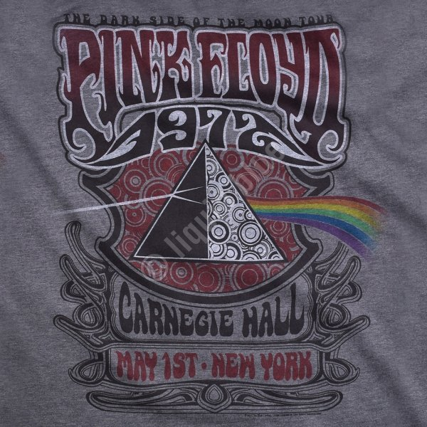 Pink Floyd Carnegie Hall Dark Heather - Liquid Blue