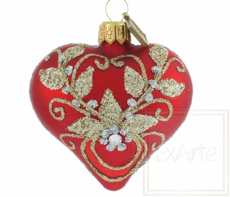 Serce 5cm - Złotem haftowane