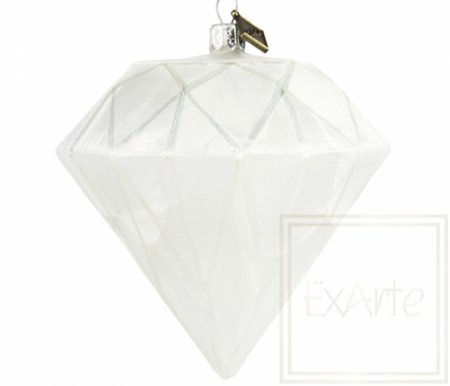 Diament 10cm - Serce zimy