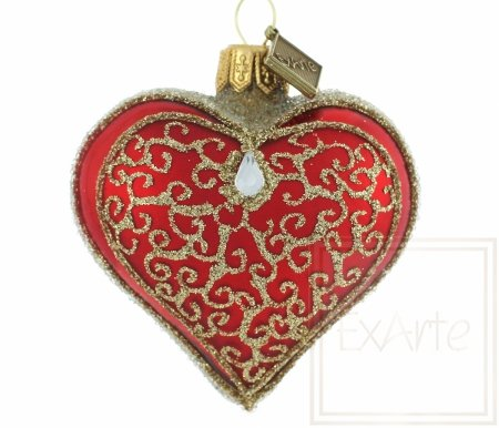 Serce 5cm  - Złote piruety