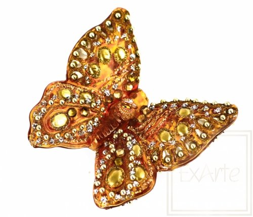 Schmetterling 9 cm - Golden