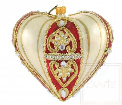 Serce 12cm - Złota sonata