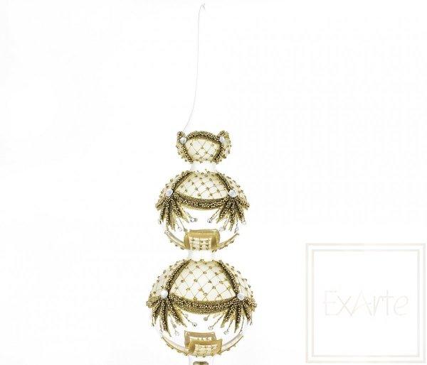 przezroczyste bombki szpice na choinkę / Chub / Spike 42cm - Goldgirlanden